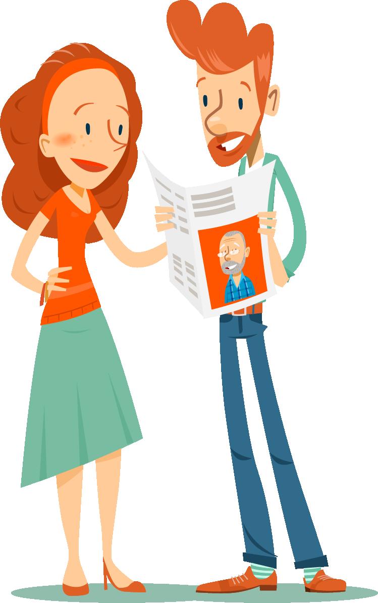 contact tijdens de coronacrisis met zelfgemaakte krant - Happiedays