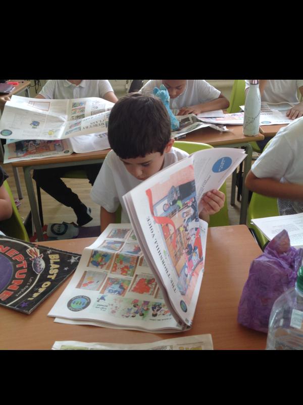 kranten in de klas en computerlessen - Happiedays