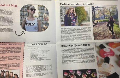 krant met fashion en blog