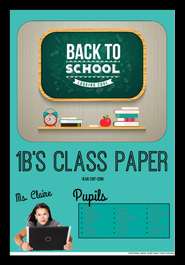 make a newspaper newspaper template back to school - happiedays