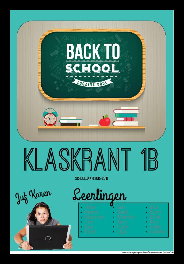 Maak je eigen krant sjabloon begin schooljaar | Happiedays