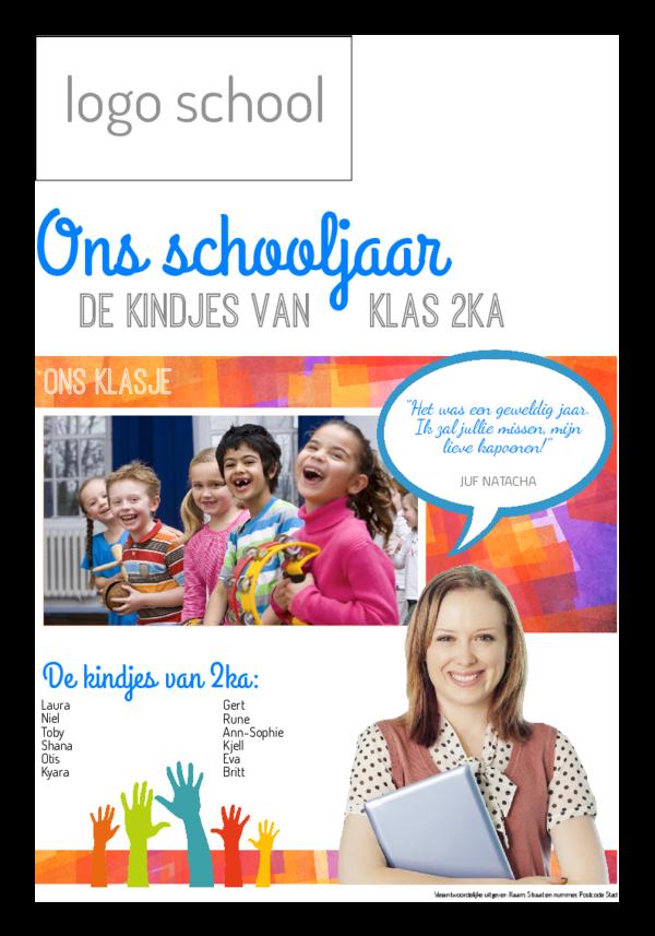 Maak je eigen krant sjabloon einde schooljaar | Happiedays