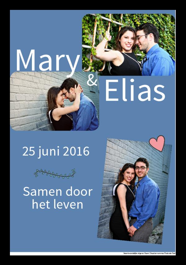 Maak je eigen krant sjabloon huwelijksuitnodiging | Happiedays