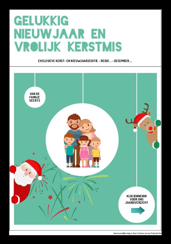 Maak je eigen krant sjabloon kerst en nieuwjaar | Happiedays