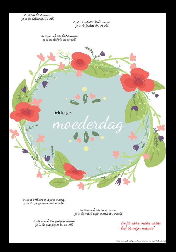 Maak je eigen krant sjabloon moederdag   Happiedays