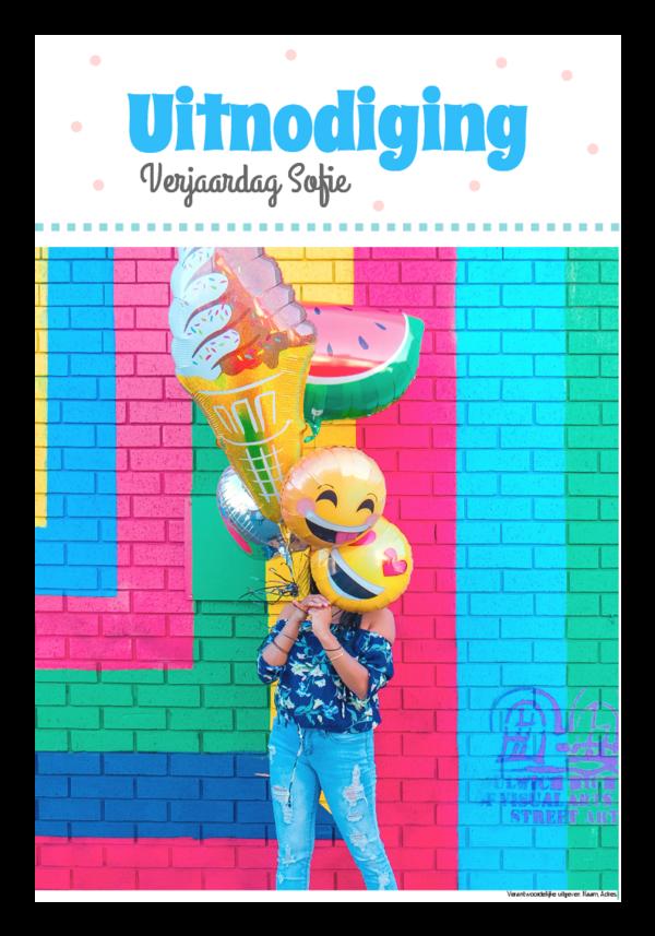 Maak je eigen krant sjabloon verjaardagsuitnodiging | Happiedays